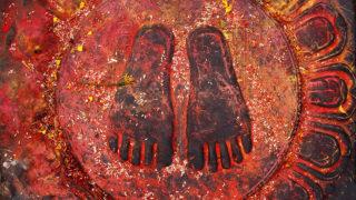 The Holy Buddha Feet - Nepal, Kathmandu, Swoyabhunath