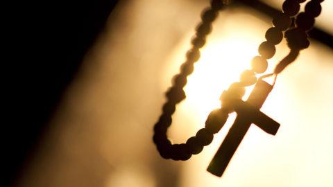 Religion, rosary, cross, motion, sun, prayer, Christianity