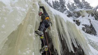 Rjukan, 2018. február 14.Németh Gábor jeget mászik a norvégiai Rjukanban 2018. február 12-én.MTI Fotó: Mohai Balázs