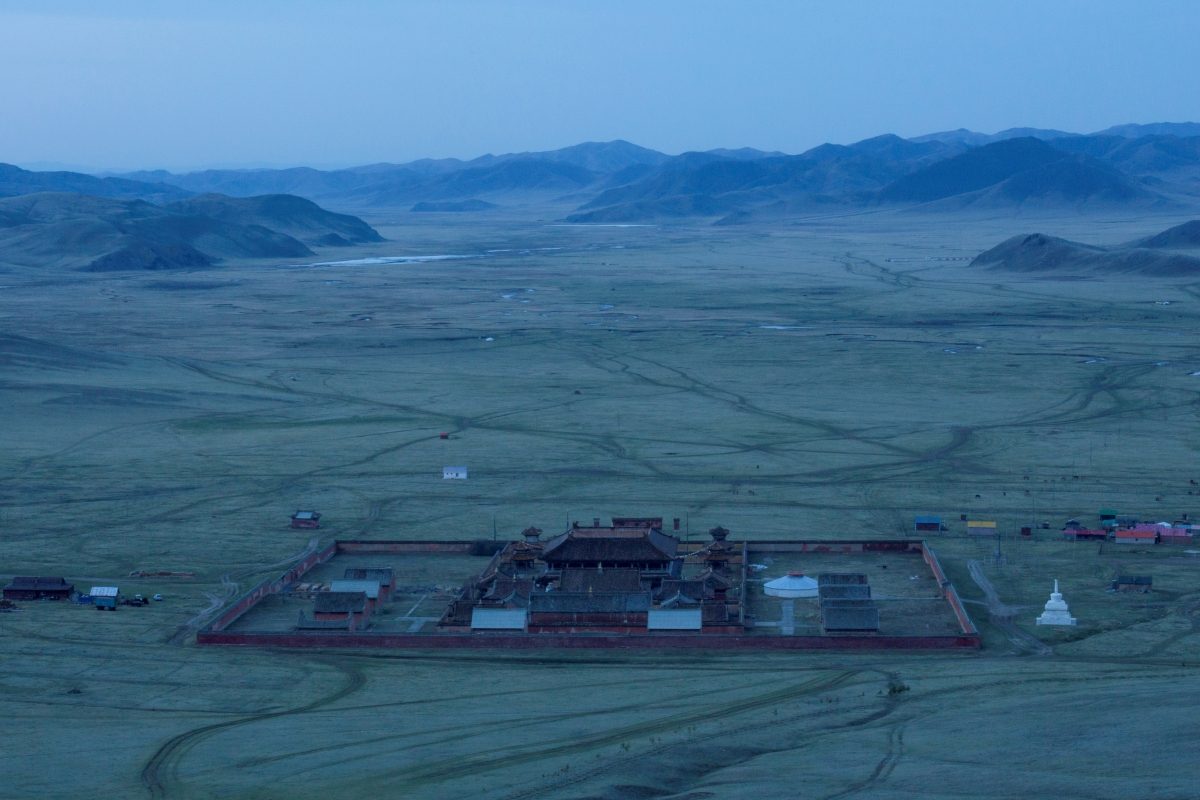 """The sun rises over the Buddhist Amarbayasgalant Monastery in the Baruunburen district, Selenge province, Mongolia, April 26, 2018. REUTERS/Thomas Peter  SEARCH """"MILLENNIAL MONKS"""" FOR THIS STORY. SEARCH """"WIDER IMAGE"""" FOR ALL STORIES."""
