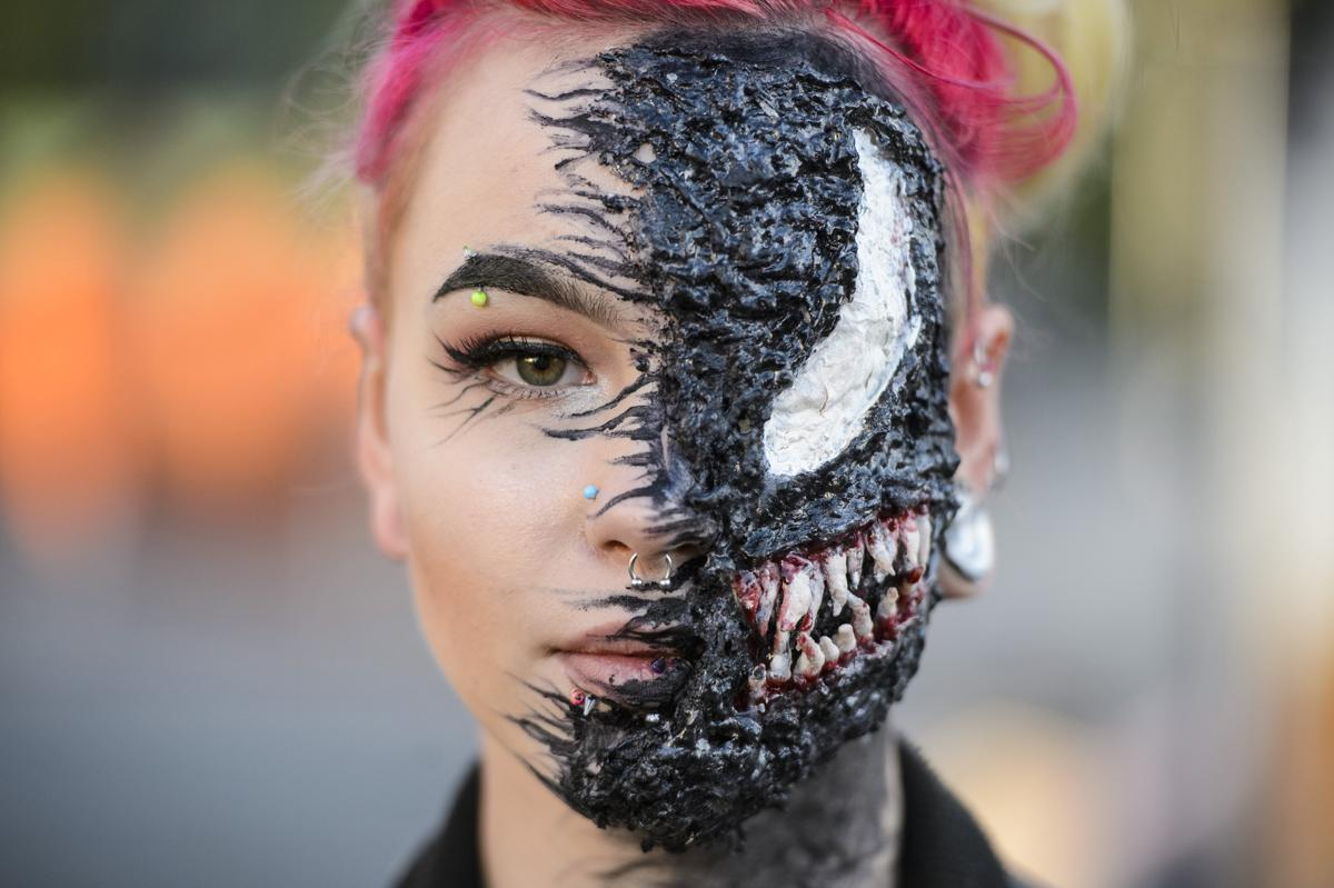 Résztvevő a salgótarjáni Hello Halloween című rendezvényenFotó: Komka Péter / MTI