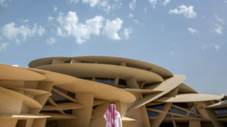 """A view of the National Museum of Qatar on March 28, 2019, in the Gulf emirate's capital Doha. - Almost a decade in the making, three years late and at an estimated cost of $434 million, Qatar's vast national museum, built in the shape of a desert rose, opens this week. """"Architecture to give a voice to heritage whilst celebrating (the) future,"""" tweeted the museum's renowned French architect Jean Nouvel, also responsible for the Louvre Abu Dhabi. (Photo by Patrick BAZ / National Museum of Qatar / AFP) / == RESTRICTED TO EDITORIAL USE - MANDATORY CREDIT """"AFP PHOTO / HO /NATIONAL MUSEUM OF QATAR"""" - NO MARKETING NO ADVERTISING CAMPAIGNS - DISTRIBUTED AS A SERVICE TO CLIENTS == MANDATORY MENTION OF THE ARTIST UPON PUBLICATION - TO ILLUSTRATE THE EVENT AS SPECIFIED IN THE CAPTION /"""