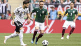 Germany's defender Marvin Plattenhardt (L) vies for the ball with Mexico's defender Miguel Layun during the Russia 2018 World Cup Group F football match between Germany and Mexico at the Luzhniki Stadium in Moscow on June 17, 2018. / AFP PHOTO / Juan Mabromata / RESTRICTED TO EDITORIAL USE - NO MOBILE PUSH ALERTS/DOWNLOADS