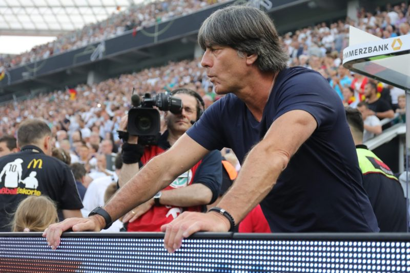 firo Football: Football: 08.06.2018 National team Test match: Germany - Saudi Arabia 2: 1 Portrait Bundescoach Joachim Low | usage worldwide