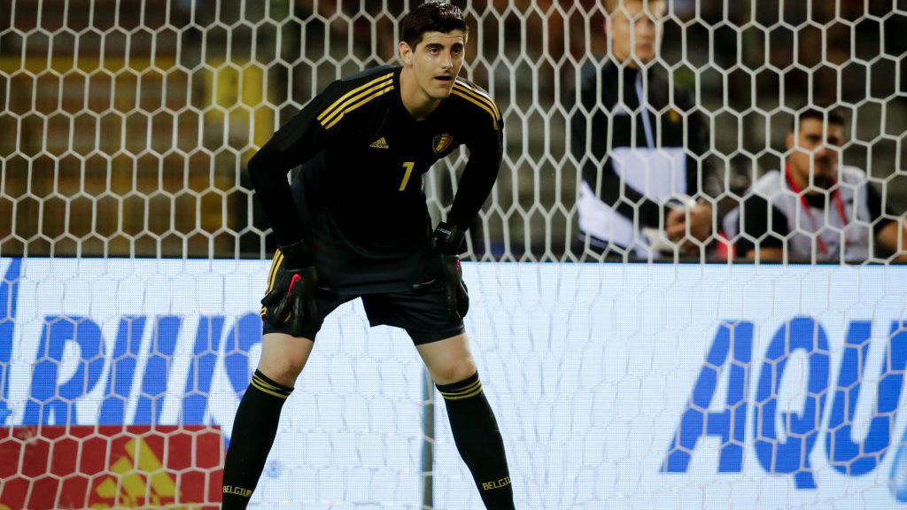 BRUSSEL, BELGIUM - JUNE 6: Thibaut Courtois of Belgium during the  International Friendly match between Belgium  v Egypt  at the Koning Boudewijnstadion on June 6, 2018 in Brussel Belgium (Photo by Erwin Spek/Soccrates/Getty Images)