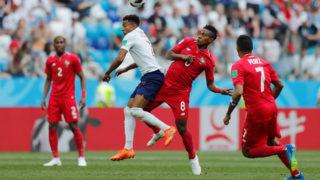 Soccer Football - World Cup - Group G - England vs Panama - Nizhny Novgorod Stadium, Nizhny Novgorod, Russia - June 24, 2018   England's Jesse Lingard in action with Panama's Edgar Barcenas        REUTERS/Carlos Barria
