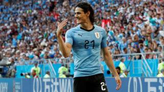 Soccer Football - World Cup - Group A - Uruguay vs Saudi Arabia - Rostov Arena, Rostov-on-Don, Russia - June 20, 2018   Uruguay's Edinson Cavani gestures   REUTERS/Carlos Garcia Rawlins