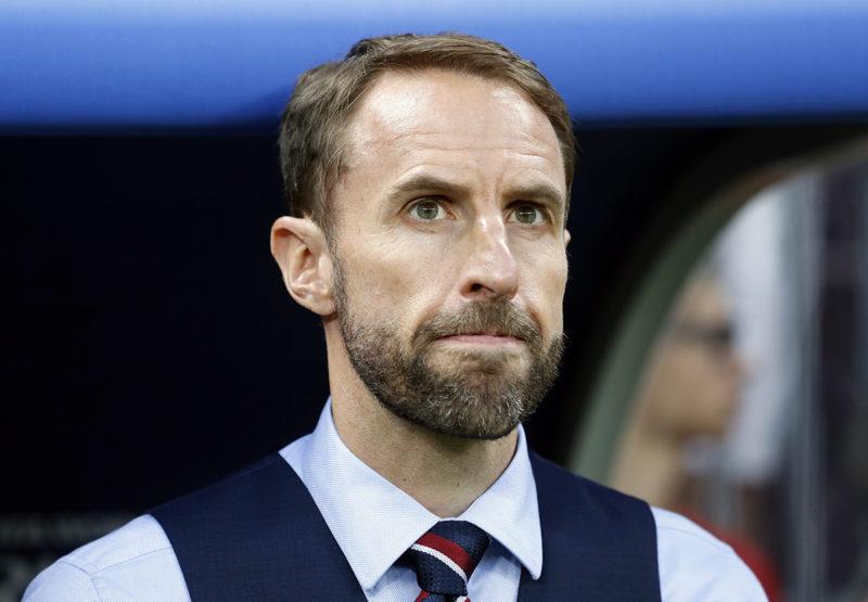 Moszkva, 2018. július 11.Gareth Southgate angol szövetségi kapitány az oroszországi labdarúgó-világbajnokság elődöntőjében játszott Horvátország - Anglia mérkőzésen a moszkvai Luzsnyiki Stadionban 2018. július 11-én. (MTI/EPA/Felipe Trueba)