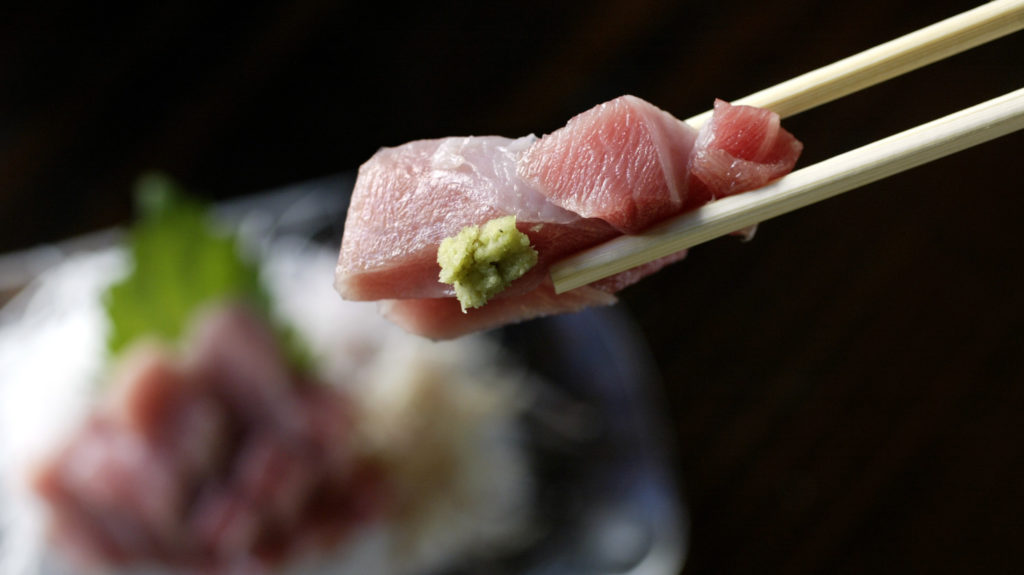 O?Toro sashimi with fresh wasabi at Kiriko sushi in West Los Angeles.  (Photo by Mel Melcon/Los Angeles Times via Getty Images)