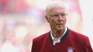 MUNICH, GERMANY - MAY 12:  Franz Beckenbauer attends  the Bundesliga match between FC Bayern Muenchen and VfB Stuttgart at Allianz Arena on May 12, 2018 in Munich, Germany.  (Photo by Alexander Hassenstein/Bongarts/Getty Images)