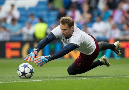 Bayern Munich´s goalkeeper Manuel Neuer during training before the UEFA Champions League Quarter Final Second Leg match between Real Madrid and Bayern Munich played at the Santiago Bernabeu Stadium in Madrid, on April 18th 2017 - Rudy / SpainDPPI / DPPI