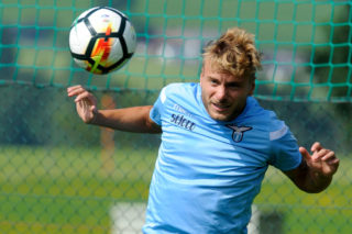WALCHSEE, KUFSTEIN - AUGUST 03:  Ciro Immobile of SS Lazio during the SS Lazio Training Camp on August 3, 2017 in Walchsee, Austria.  (Photo by Marco Rosi/Getty Images)