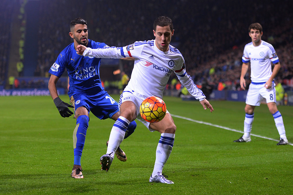 during the Barclays Premier League match between Leicester City and Chelsea at the King Power Stadium on December14, 2015 in Leicester, United Kingdom.