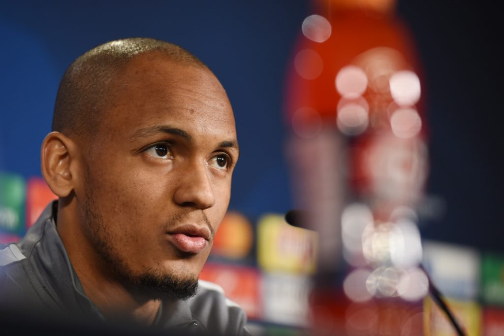 Monaco's Brazilian defender Fabinho answers questions during a press conference in Dortmund, on April 10, 2017 on the eve of the Champions League football match between Borussia Dortmund and AS Monaco. / AFP PHOTO / PATRIK STOLLARZ