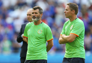 LYON, FRANCE - JUNE 26: Roy Keane assistant manager of Republic of Ireland after the UEFA EURO 2016 Round of 16 match between France and Republic of Ireland at Stade des Lumieres on June 26, 2016 in Lyon, France. (Photo by Catherine Ivill - AMA/Getty Images)