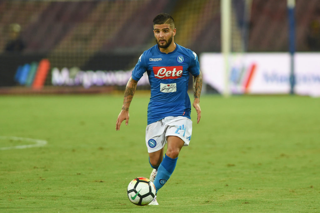 Lorenzo Insigne of SSC Napoli during the Pre-season Frendly match between SSC Napoli and RCD Espanyol at Stadio San Paolo Naples Italy on 10 August 2017. (Photo Franco Romano/Nurphoto)