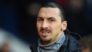 Manchester United's Swedish striker Zlatan Ibrahimovic arrives ahead of the English Premier League football match between West Bromwich Albion and Manchester United at The Hawthorns stadium in West Bromwich, central England, on December 17, 2017.  / AFP PHOTO / Oli SCARFF / RESTRICTED TO EDITORIAL USE. No use with unauthorized audio, video, data, fixture lists, club/league logos or 'live' services. Online in-match use limited to 75 images, no video emulation. No use in betting, games or single club/league/player publications.  /