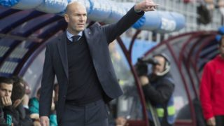 Zinedine Zidane, coach of Real Madrid during the Spanish championship Liga football match between Eibar and Real Madrid on March 10, 2018 at Ipurua Stadium in Eibar, Spain - Photo UGS / Spain DPPI / DPPI