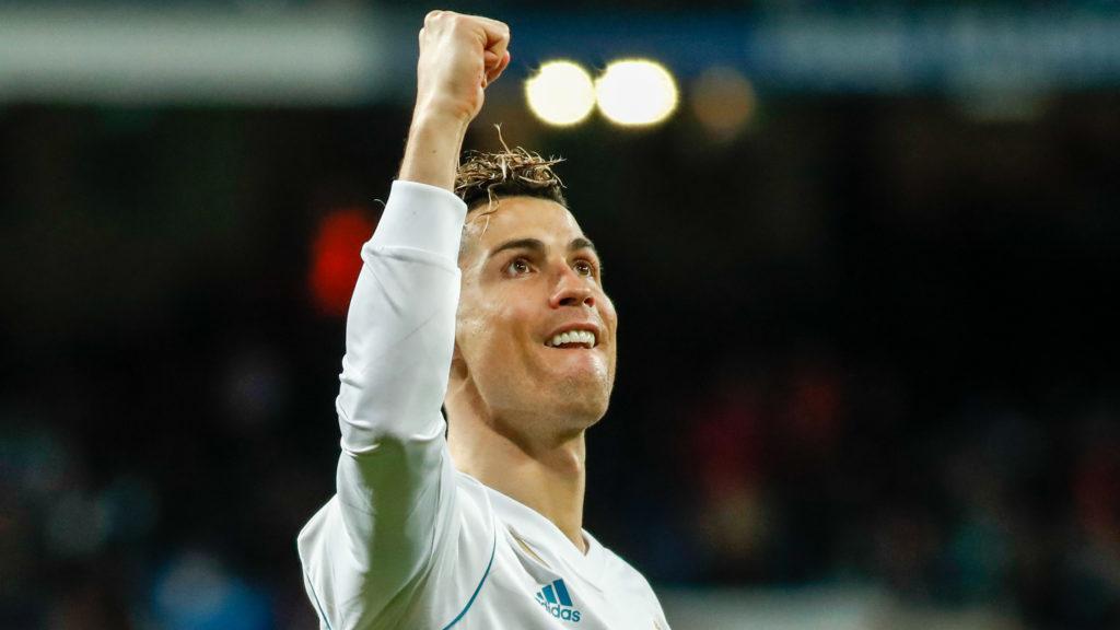 Cristiano Ronaldo of Real Madrid celebrates the goal during the Spanish championship Liga football match between Real Madrid and Girona on march 18, 2018 at Santiago Bernabeu Stadium in Madrid, Spain - Photo Oscar J Barroso / Spain DPPI / DPPI