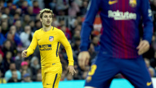 Antoine Griezmann during the spanish football league match between FC Barcelona and Atletico de Madrid at the Camp Nou Stadium in Barcelona, Catalonia, Spain on March 04,2018 (Photo by Miquel Llop/NurPhoto)