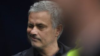 Manchester United's Portuguese manager Jose Mourinho arrives for the English Premier League football match between Manchester City and Manchester United at the Etihad Stadium in Manchester, north west England, on April 7, 2018. / AFP PHOTO / Ben STANSALL / RESTRICTED TO EDITORIAL USE. No use with unauthorized audio, video, data, fixture lists, club/league logos or 'live' services. Online in-match use limited to 75 images, no video emulation. No use in betting, games or single club/league/player publications.  /