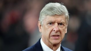 (FILES) In this file photo taken on March 15, 2018 Arsenal's French manager Arsene Wenger looks on before the UEFA Europa League round of 16 second-leg football match  between Arsenal and AC Milan at the Emirates Stadium in London on March 15, 2018.  Arsenal's French manager Arsene Wenger says in a statement on April 20, 2018 he will leave Arsenal at the end of the season. / AFP PHOTO / Ben STANSALL