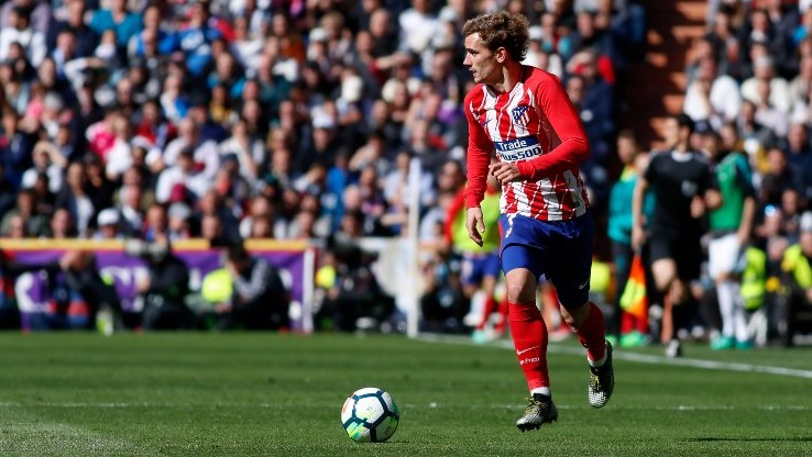 Antoine Griezmann of Atletico during the Spanish championship Liga football match between Real Madrid and Atletico de Madrid on April 8, 2018 at Santiago Bernabeu Stadium in Madrid, Spain - Photo Oscar J Barroso / DPPI