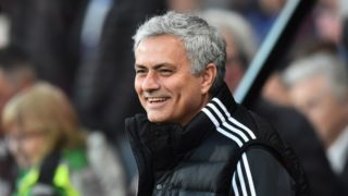 Manchester United manager Jose Mourinho smiles during the Premier League match between Bournemouth and Manchester United at the Vitality Stadium, Bournemouth, England on April 18, 2018 - Picture by Graham Hunt / ProSportsImages / DPPI