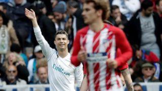 MADRID, SPAIN - APRIL 08: Cristiano Ronaldo of Real Madrid reacts during the La Liga soccer match between Real Madrid and Atletico Madrid at Santiago Bernabeu Stadium in Madrid, Spain on April 08, 2018. Burak Akbulut / Anadolu Agency