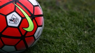 The Nike Ordem match ball with Premier League logo during the Barclays Premier League match between Swansea City and Liverpool played at the Liberty Stadium, Swansea, England, on May 1, 2016 - Photo Kieran McManus / BPI / DPPI