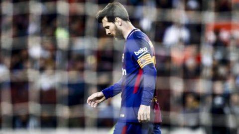 10 Leo Messi from Argentina of FC Barcelona during the  La Liga football match between FC Barcelona v Villarreal CF at Camp Nou Stadium in Spain on May 9 of 2018. (Photo by Xavier Bonilla/NurPhoto)