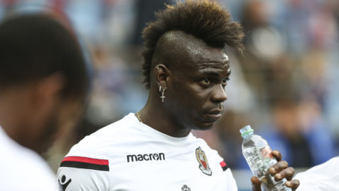 Mario Balotelli, Nice during the French L1 football match between Strasbourg (RCSA) and Nice (OGC) on April 28, 2018 at the Meinau stadium in Strasbourg, eastern France.  (Photo by Elyxandro Cegarra/NurPhoto)