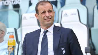 Massimiliano Allegri, head coach of Juventus FC, before the Serie A football match between Juventus FC and Hellas Verona at Allianz Stadium on May 19, 2018 in Turin, Italy. (Photo by Massimiliano Ferraro/NurPhoto)