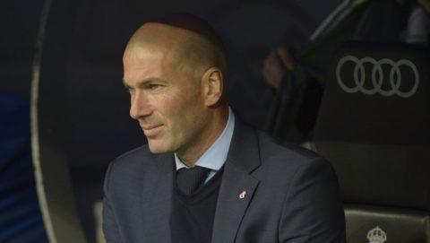 Zinedine Zidane coach of Real Madrid during a match between Real Madrid vs Celta de Vigo for La Liga Espańola at Santiago Bernabeu Stadium on May 12, 2018 in Madrid, Spain. (Photo by Patricio Realpe/Press South/ChakanaNews)