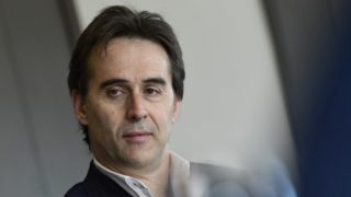 (FILES) In this file photo taken on April 17, 2018 Spain's coach Julen Lopetegui poses at Spain's Sport City in Las Rozas near Madrid. Spain sacked coach Lopetegui just two days before the team's opening game against Portugal at the World Cup, Spanish football federation chief Luis Rubiales confirmed on June 13, 2018. In a surprise announcement on June 12, Real Madrid named Lopetegui as their next manager to start work after the tournament in Russia, sparking outrage among the federation and Spanish fans at the timing of the announcement. / AFP PHOTO / Javier SORIANO