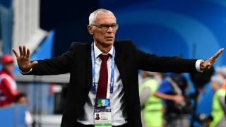 Egypt's coach Hector Raul Cuper reacts during the Russia 2018 World Cup Group A football match between Russia and Egypt at the Saint Petersburg Stadium in Saint Petersburg on June 19, 2018.  / AFP PHOTO / Giuseppe CACACE / RESTRICTED TO EDITORIAL USE - NO MOBILE PUSH ALERTS/DOWNLOADS