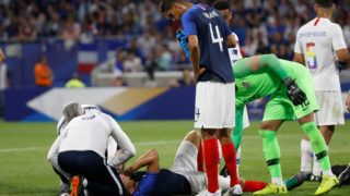 Olivier Giroud of France OUT during the 2018 Friendly Game football match between France and USA on June 9, 2018 at Groupama stadium in Decines-Charpieu near Lyon, France - Photo Romain Biard / Isports / DPPI