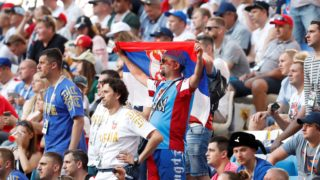 SAMARA, RUSSIA - JUNE 17: Fans are seen during the 2018 FIFA World Cup Russia Group E match between Costa Rica and Serbia in Samara, Russia on June 17, 2018. Fatih Aktas / Anadolu Agency