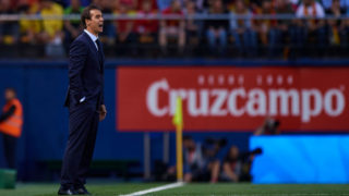 VILLAREAL, SPAIN - JUNE 03:  Spain manager, Julen Lopetegui reacts during the International Friendly match between Spain and Switzerland at Estadio de la Ceramica on June 3, 2018 in Villareal, Spain.  (Photo by Quality Sport Images/Getty Images)