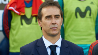 Julen Lopetegui, head coach of Spain prior the International friendly football match between Spain and Suisse, at La Ceramica Stadium, Vila-real on June  3, 2018 (Photo by Maria Jose Segovia/NurPhoto via Getty Images)