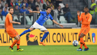 TURIN, ITALY - JUNE 04:  Simone Verdi of Italy  in action during the International Friendly match between Italy and Netherlands at Allianz Stadium on June 4, 2018 in Turin, Italy.  (Photo by Alessandro Sabattini/Getty Images)