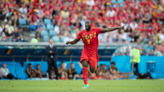 SOCHI, RUSSIA - JUNE 18:  Romelu Lukaku of Belgium in action during the 2018 FIFA World Cup Russia group G match between Belgium and Panama at Fisht Stadium on June 18, 2018 in Sochi, Russia.  (Photo by Fred Lee/Getty Images)