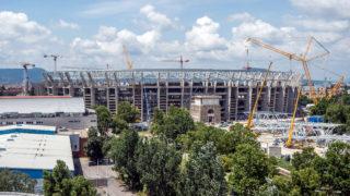 Budapest, 2018. június 29. Az épülõ Puskás Ferenc Stadion 2018. június 29-én. MTI Fotó: Balogh Zoltán