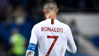 Cristiano Ronaldo of Portugal reacts in the round of 16 match between Uruguay and Portugal during the 2018 FIFA World Cup in Sochi, Russia, 30 June 2018.  Uruguay conceded their first Russia World Cup goal in the last 16 clash against Portugal but Edinson Cavani's double sent them through to the quarterfinals here on Saturday at the Fisht Olympic Stadium. They will next face France, who had earlier knocked out Lionel Messi's Argentina 4-3. Forward of Paris Saint-Germain, Cavani scored once at each half of the match, before he was injured and left the pitch supported by Portugal captain Cristiano Ronaldo. Portugal, after their impressive performances in four matches, will go home, and Real Madrid forward Ronaldo's fourth World Cup journey finished earlier than expected. Great efforts were mounted by the European Champions, who, in the 55th minute, for the first time at this World Cup struck a ball into the tightly-guarded Uruguay net.