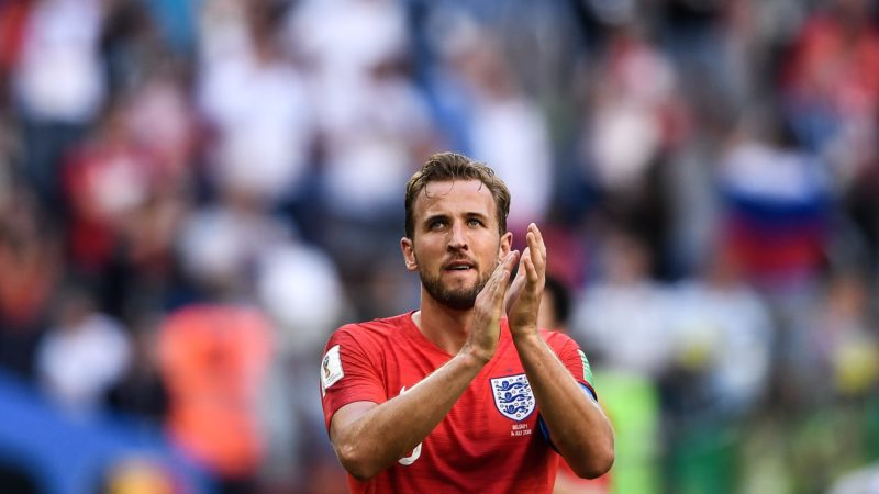 Harry Kane of England reacts after his team was defeated by Belgium in their third place match during the 2018 FIFA World Cup in Saint Petersburg, Russia, 14 July 2018.