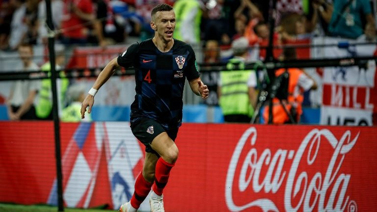 Ivan Perisic of Croatia celebrates after his 1-1 equalizing goal during the 2018 FIFA World Cup Russia, semi-final football match between Croatia and England on July 11, 2018 at Luzhniki Stadium in Moscow, Russia - Photo Thiago Bernardes / FramePhoto / DPPI