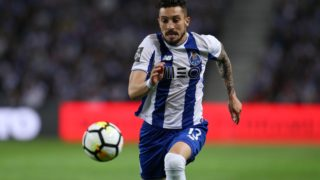 Porto's Brazilian defender Alex Telles in action during the Premier League 2016/17 match between FC Porto and Vitoria FC, at Dragao Stadium in Porto on April 23, 2018. (Photo by Paulo Oliveira / DPI / NurPhoto)