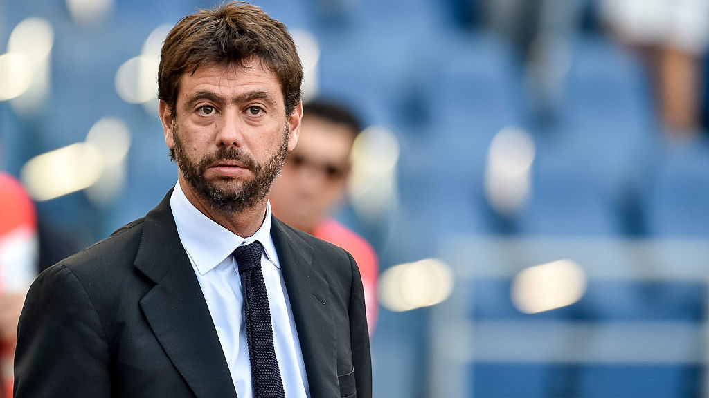 Andrea Agnelli owner of Juventua during the Serie A match between Lazio v Juventus on August 27, 2016 in Rome, Italy.  (Photo by Giuseppe Maffia/NurPhoto via Getty Images)