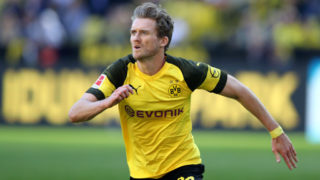 DORTMUND, GERMANY - MAY 05: Andre Schuerrle of Dortmund runs with the ball during the Bundesliga match between Borussia Dortmund and 1. FSV Mainz 05 at Signal Iduna Park on May 5, 2018 in Dortmund, Germany. (Photo by Christof Koepsel/Bongarts/Getty Images)
