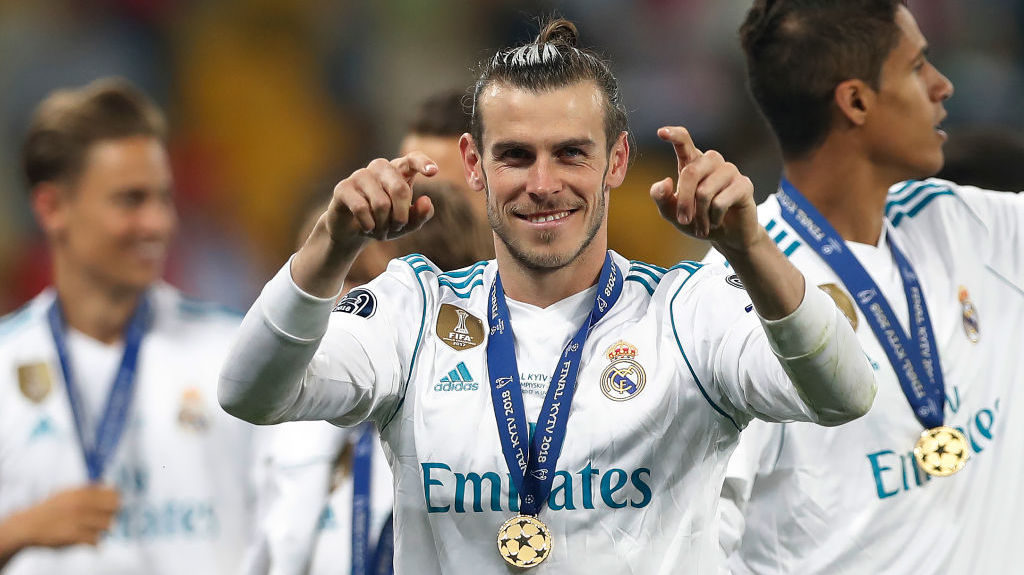 KIEV, UKRAINE - MAY 26: Gareth Bale of Real Madrid is seen during the UEFA Champions League final between Real Madrid and Liverpool on May 26, 2018 in Kiev, Ukraine. (Photo by Ian MacNicol/Getty Images)